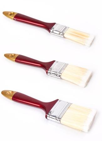 paint brushes on white background Stock Photo - 17581606