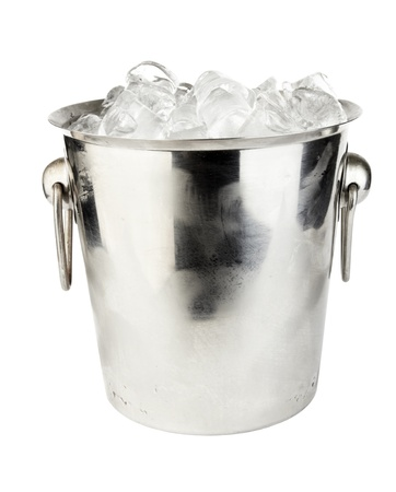 ice bucket isolated on white background