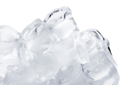 whie: Ice cubes on whie background Stock Photo