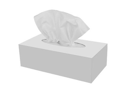 Tissue doos geïsoleerd op een witte