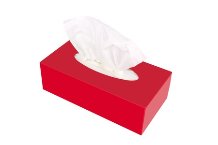 sniffle: Tissue box isolated on a white
