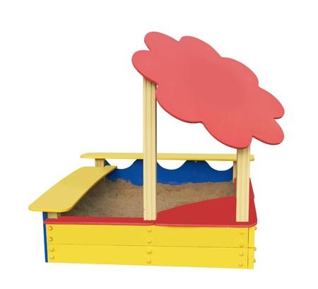 sandbox: sandbox isolated on a white background