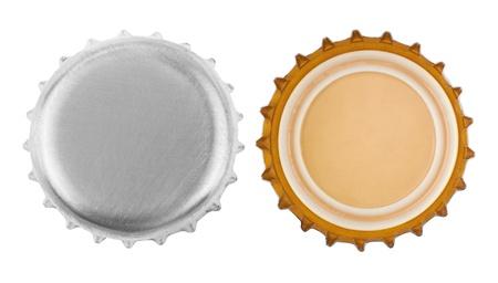 bottle cap opener: bottle cap isolated on white background Stock Photo
