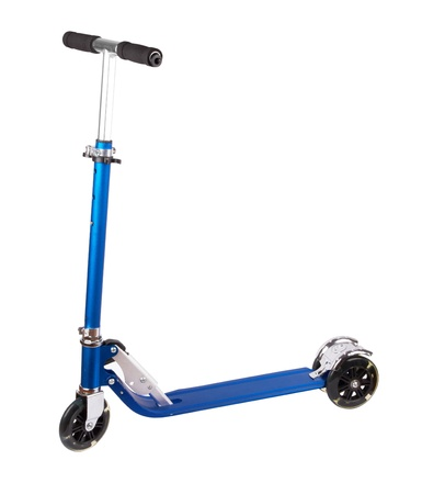 metal scooter isolated on white Stock Photo - 19917919