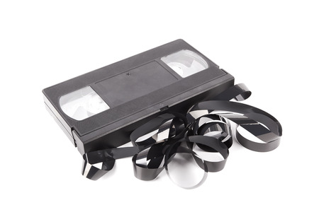 VHS tape isolated on a white