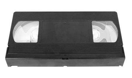 superseded: Video tape isolated on a white background  Stock Photo