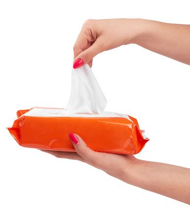 Tissue doos geà ¯ soleerd op een witte achtergrond