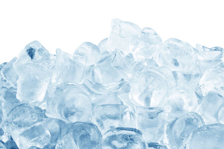 Ice cubes  isolated on a white background  Standard-Bild