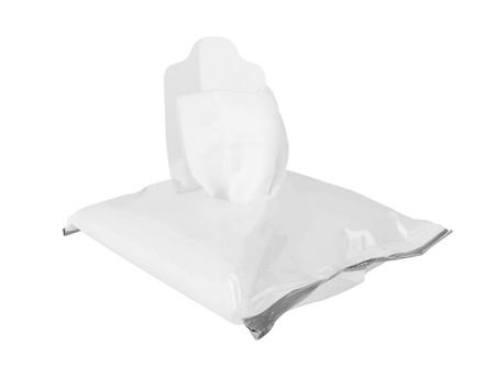 Tissue box isolated on a white background photo