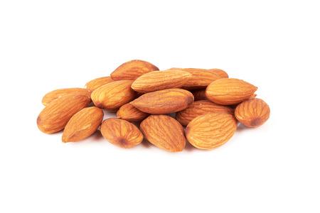 almond nut isolated on white background photo