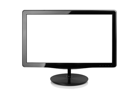 Computer monitor geïsoleerd op een witte achtergrond Stockfoto