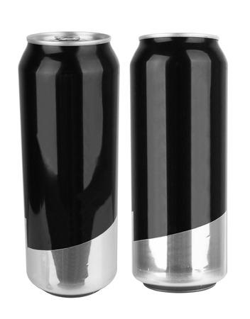 lata de refresco: de soda en blanco puede aislado en un fondo blanco