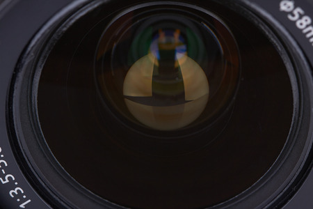 photographic: Closeup of a new photographic lens