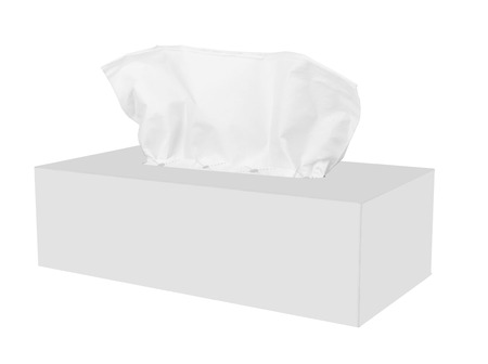 snot: Tissue box isolated on a white background