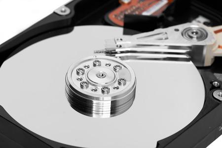 hard disk: Detail of a magnetic computer hard disk