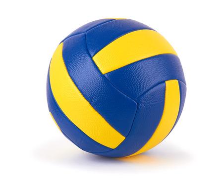 voleibol: la pelota de voleibol en un fondo blanco Foto de archivo