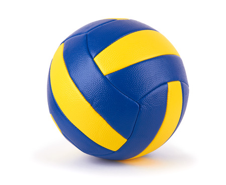 pelota de voleibol: la pelota de voleibol en un fondo blanco Foto de archivo
