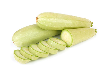 vegetable marrow: Fresh vegetable marrow isolated on white background