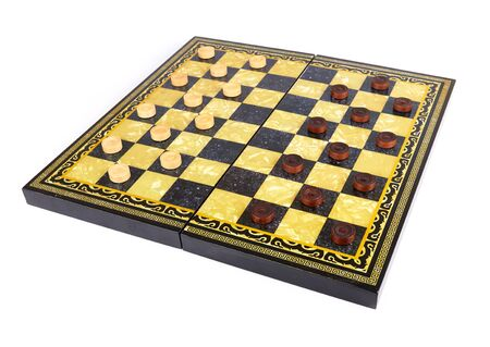 checkers: checkers are isolated on a white background