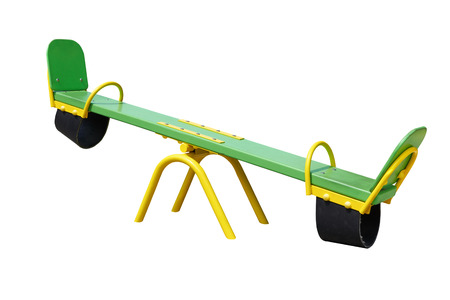 see saw: Illustration of isolated see saw on white background