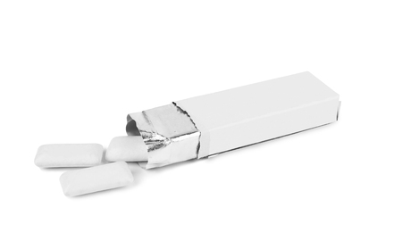chewing gum: pack chewing gum on a white background