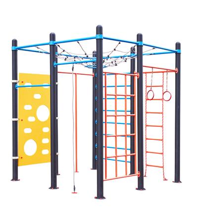 jardin de infantes: parque infantil para los ni�os aislados en un blanco