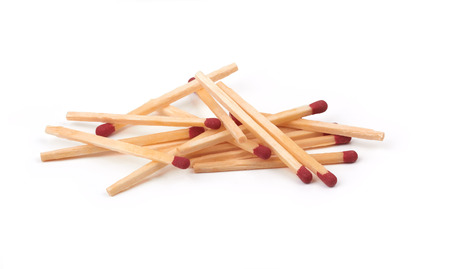 whine: bunch of matches isolated on a whine background