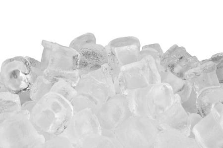ice cubes: Ice cubes isolated on white background