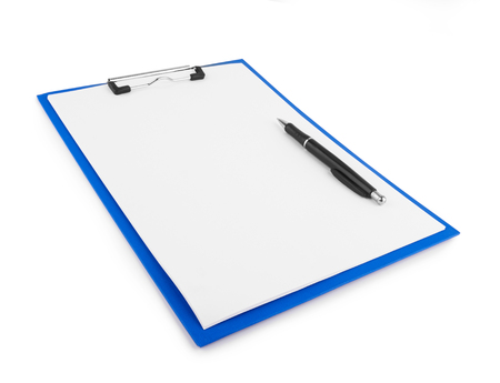 Clipboard blank isolated on white background