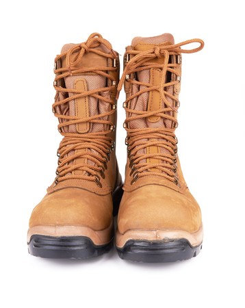 army boots: Pair of army boots isolated on a white background