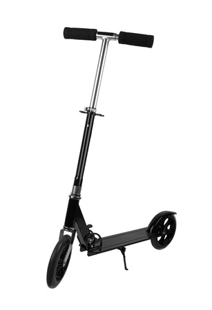 scooter: metal scooter isolated on a white background
