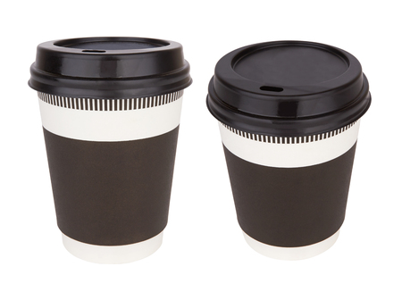 thermo: Take-out coffee in thermo cup isolated on a white.
