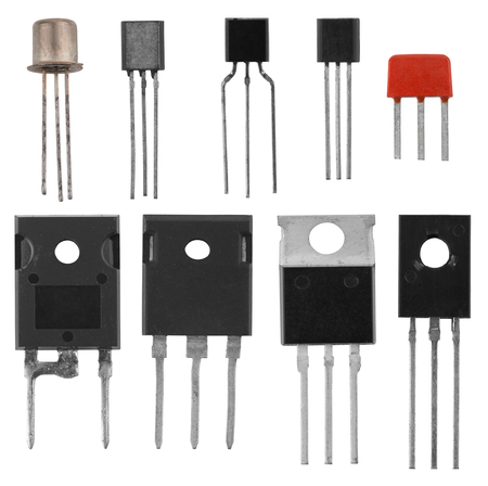 triode: power transistors isolated on a white background