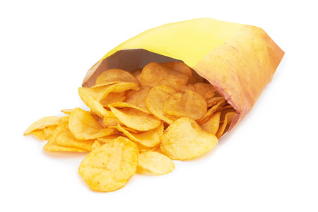 potato chips: Potato chips bag isolated on white background