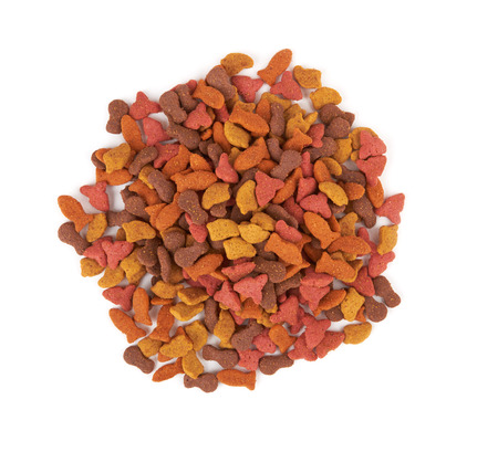 Pet food isolated on a white background
