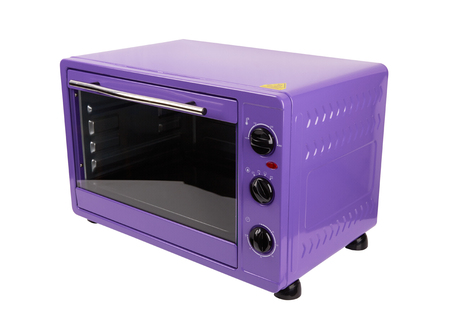 Kitchen purple oven isolated on a white background
