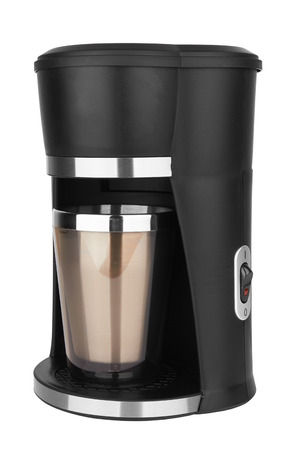 Coffee maker isolated on a white background 版權商用圖片