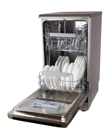 Dishwasher machine isolated on a white background