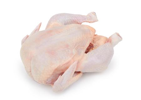 Rauwe verse kip geïsoleerd op een witte achtergrond