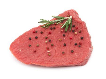 Fresh raw meat isolated on white background