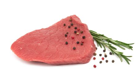Fresh raw meat isolated on white background Фото со стока - 129826622