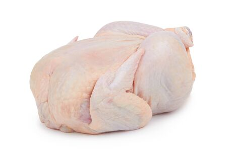 Raw fresh chicken isolated on white background