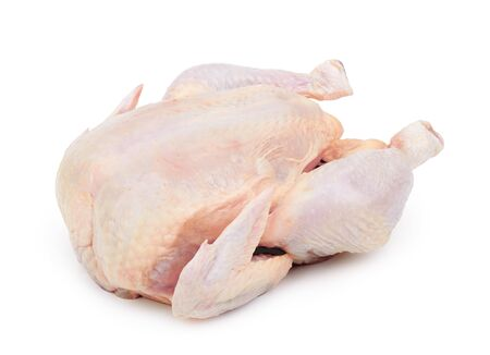 Raw fresh chicken isolated on white background