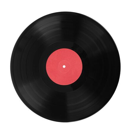 Old vinyl records isolated on white background Stock fotó