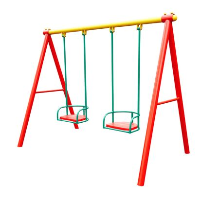 child's swing isolated on a white background