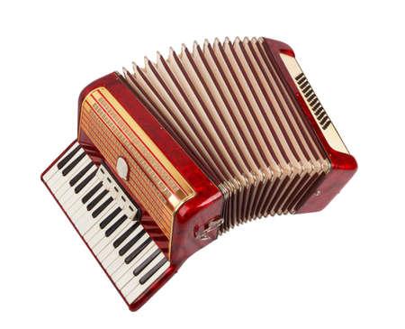 Retro accordion isolated on white background Imagens