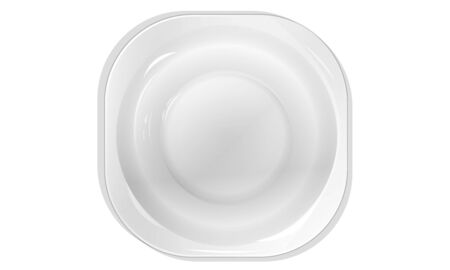ceramic plate of white on a white background Top view Illustration