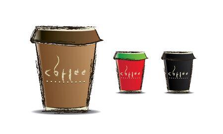 une tasse de papier de caf�