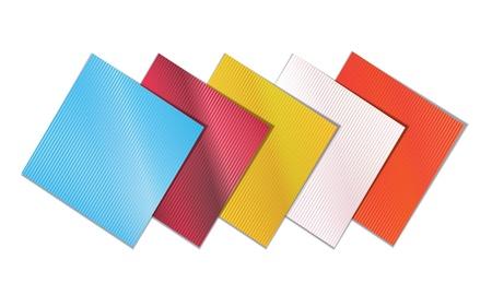 serviette: colored napkins