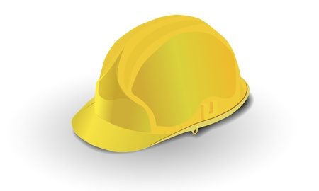 yellow construction helmet isolated